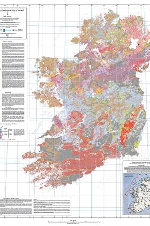 Map Of Ireland Ireland.Quaternary Geological Map Of Ireland 1 500 000 Scale