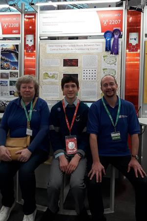 BTYSE 2020 GSI winner Liam Cotter with Mary Carter and Koen Verbruggen