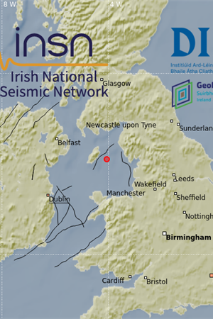 Irish Sea earthquake 14 May 2020 location map
