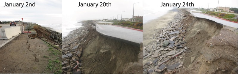 coastal erosion in San Francisco